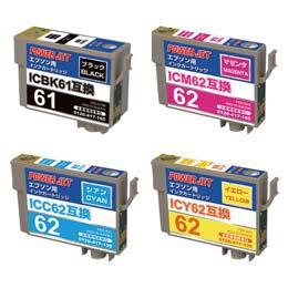IC61/62 4色BOX ICBK61/ICC62/ICM62/ICY62 互換 汎用インク