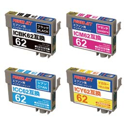 IC62 4色BOX ICBK62/ICC62/ICM62/ICY62 互換 汎用インク