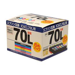 IC6CL70L ICBK70L/ICC70L/ICM70L/ICY70L/ICLC70L/ICLM70L 互換 汎用インク