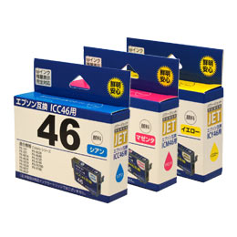 ICC46/ICM46/ICY46 互換 (顔料) 汎用インク