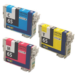 ICC65/ICM65/ICY65 3色セット リサイクルインク