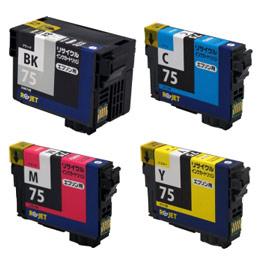 ICBK75/ICC75/ICM75/ICY75 4色セット リサイクルインク