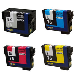 ICBK76/ICC76/ICM76/ICY76 4色セット リサイクルインク